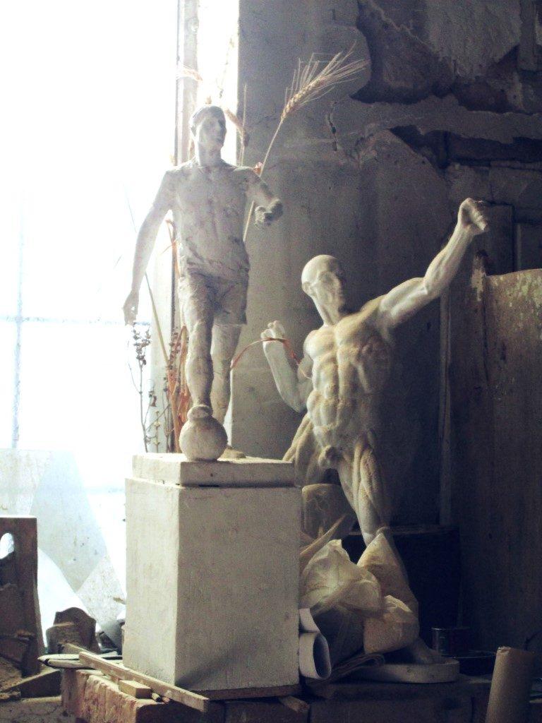 În atelierul unui sculptor clujean Ilarion Voinea Cluj (5)