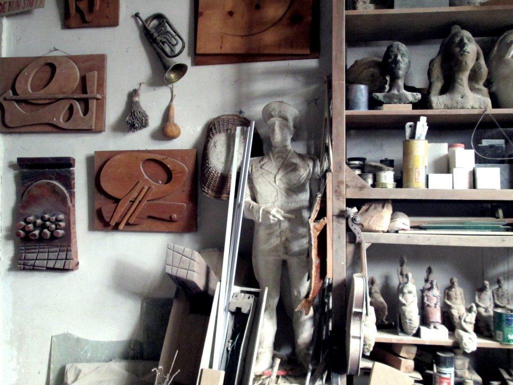 În atelierul unui sculptor clujean Ilarion Voinea Cluj (6)