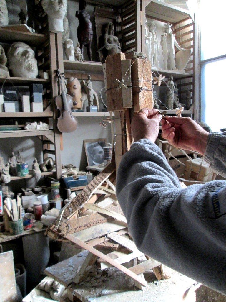 În atelierul unui sculptor clujean Ilarion Voinea Cluj (7)