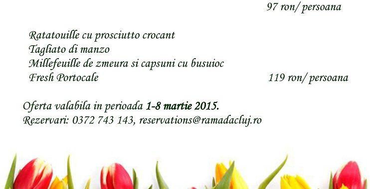 Oferte de 8 martie în meniul de la Ramada