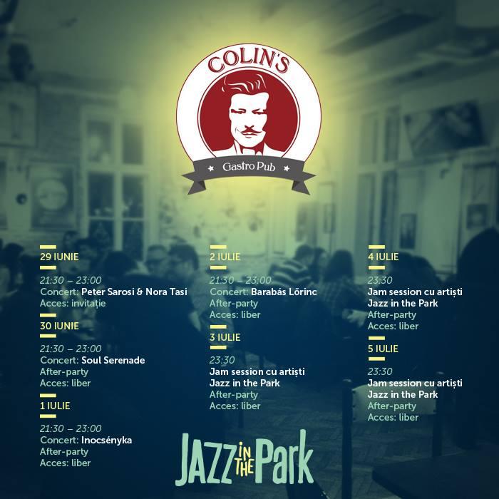 program jazz in the park la colin's cluj