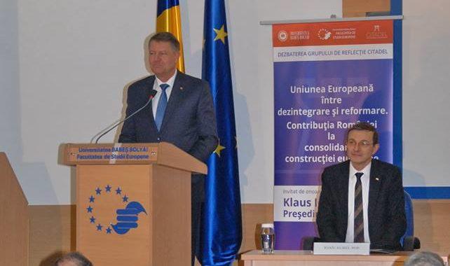Președintele României lansează la UBB strategia de reconstrucție a proiectului european