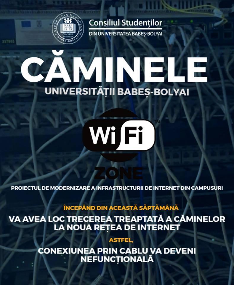 internet wi-fi în campus ubb cluj