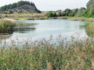 Laguna Albastră - lac antropic