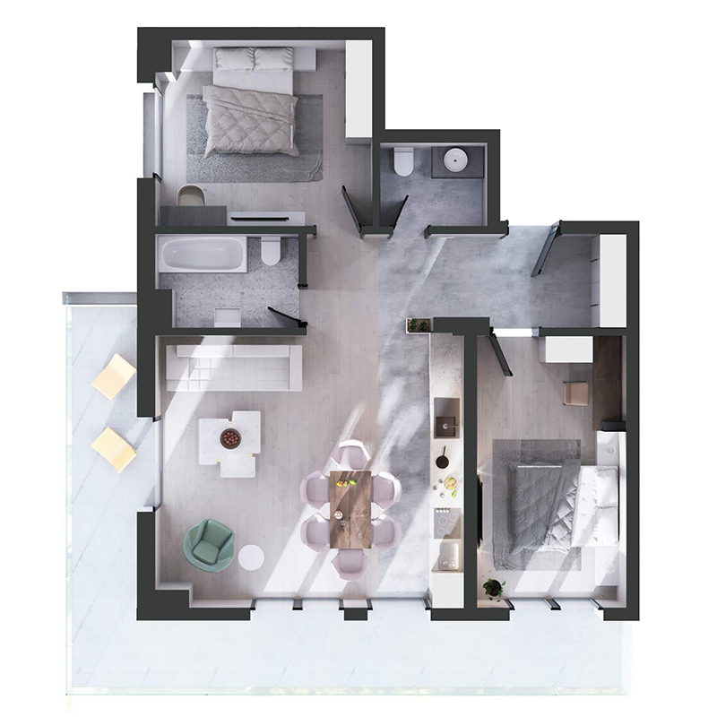 apartamente în cladirea Maurer Panoramic