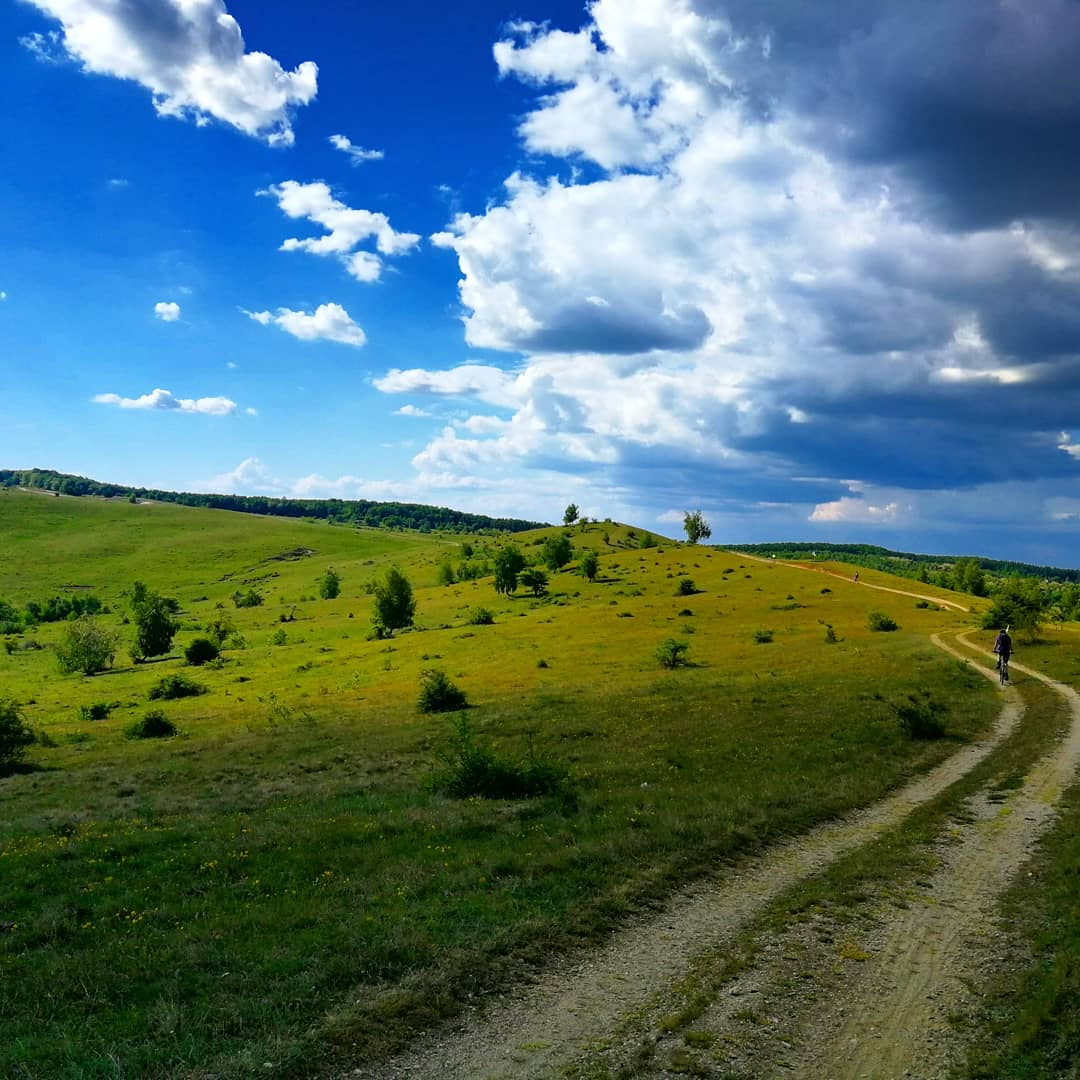 cu bicicleta pe lângă Cluj