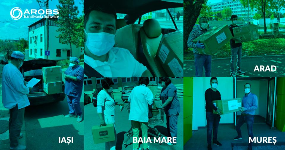 AROBS Transilvania Software s-a implicat direct în sprijinul comunităților din România unde are filiale, prin donarea de echipamente și aparatură medicală