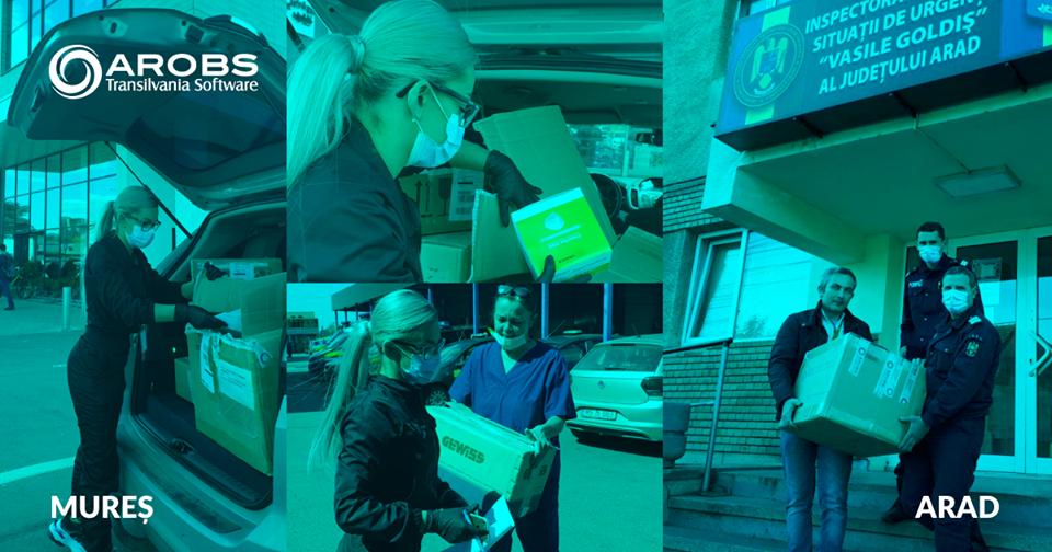 AROBS Transilvania Software a donat echipamente și aparatură medicală