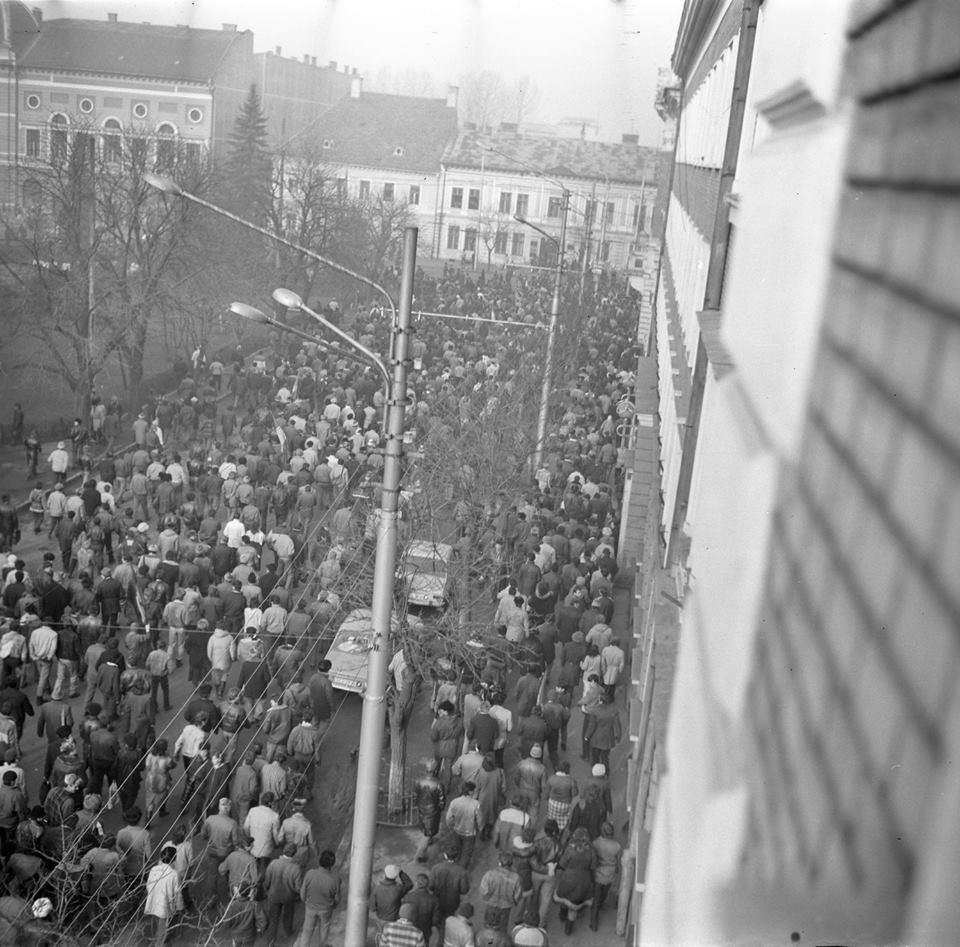 Adunare revoluționară Revoluția din 1989 la Cluj