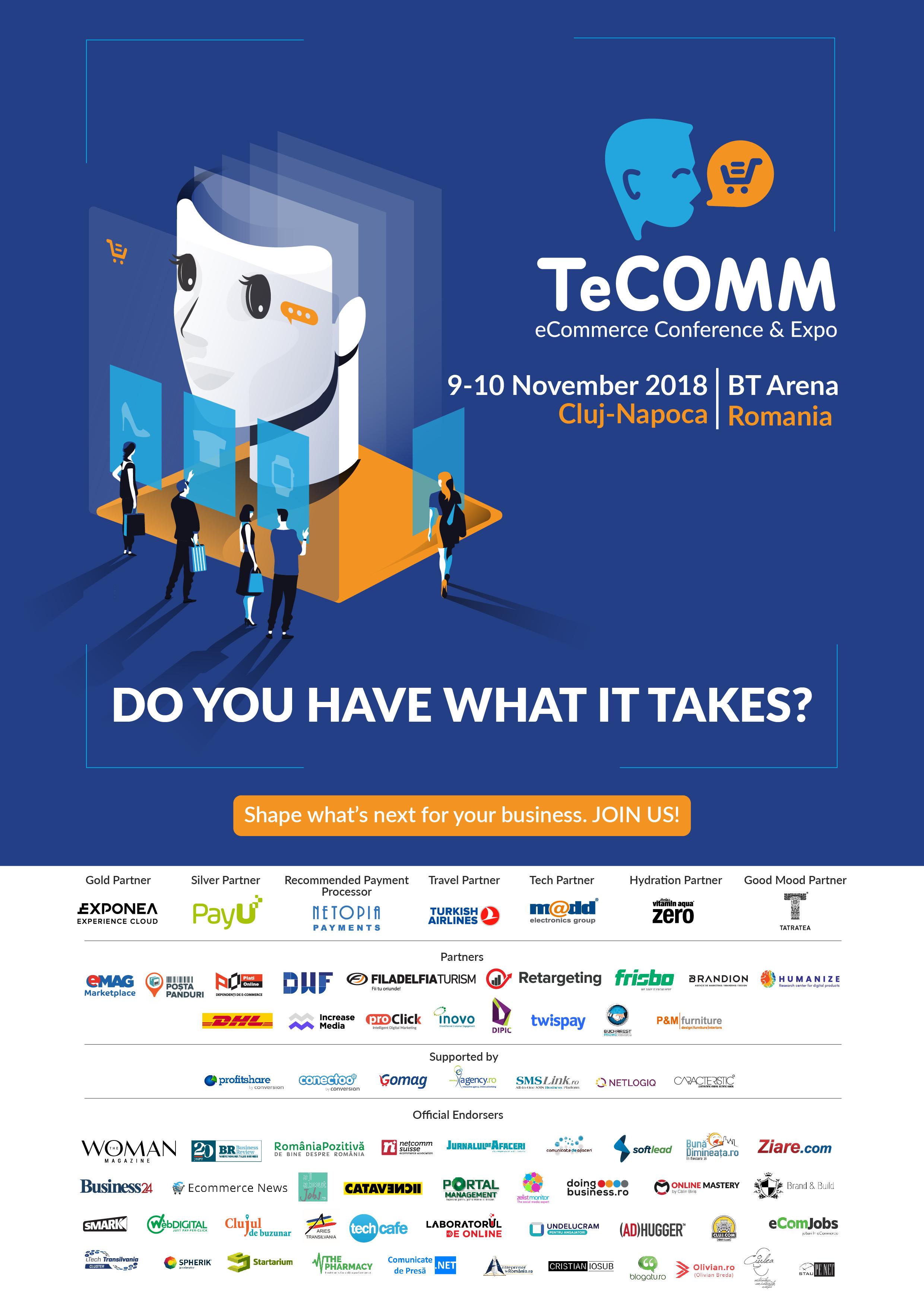 Afis TeCOMM 2018 Cluj noiembrie