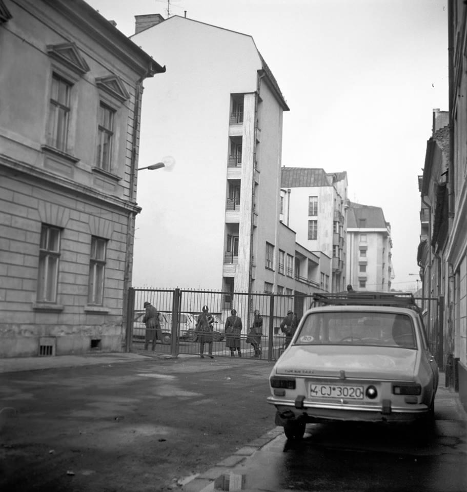 Baricada Revoluția din 1989 la Cluj