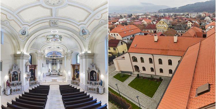 Biserica si Claustrul Manastirii Franciscane din Gherla