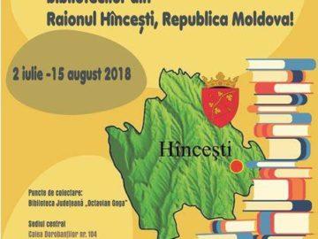 Campanie de donație de carte pentru bibliotecile din Raionul Hîncești
