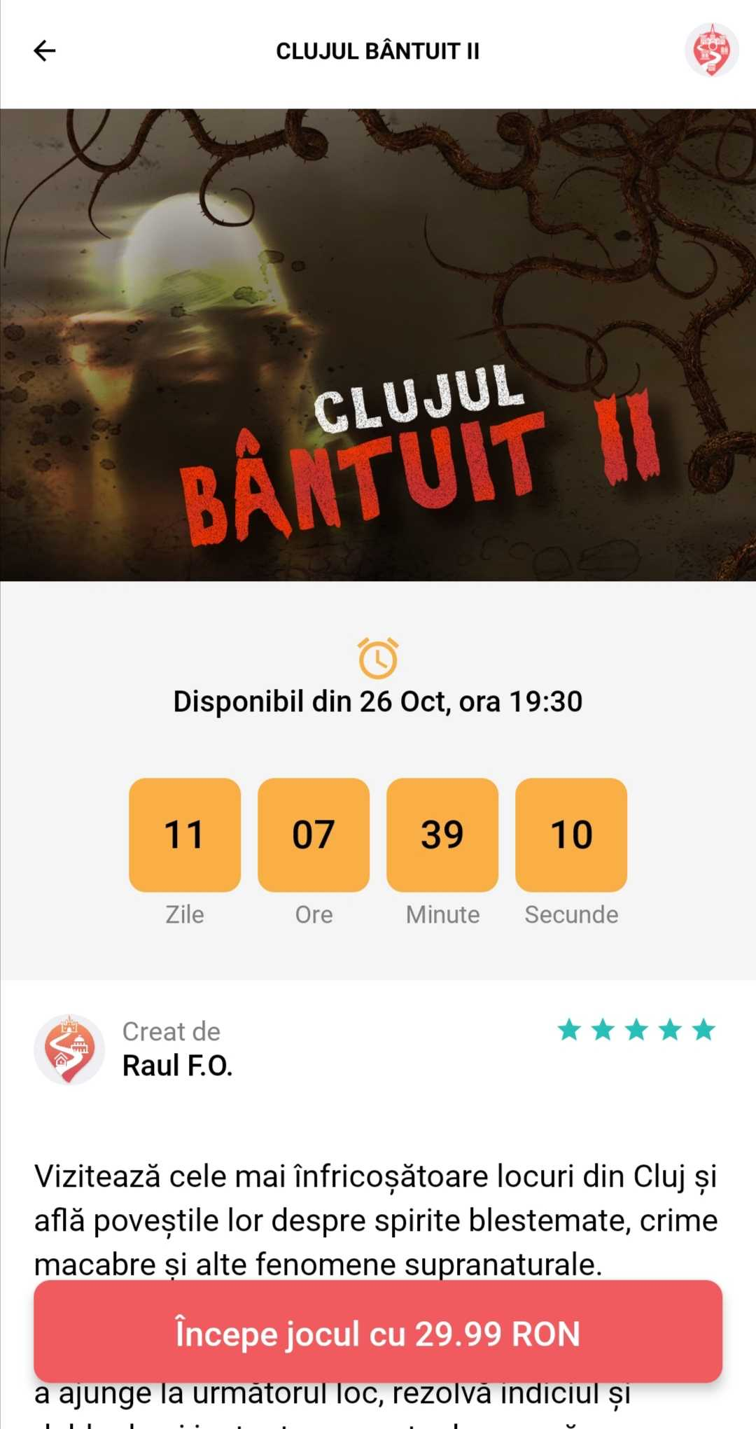 Clujul Bantuit 2 - screen
