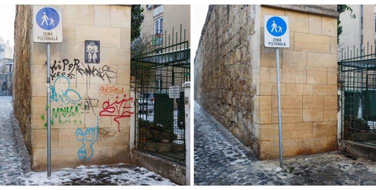 Curatat graffiti la Cluj (1)