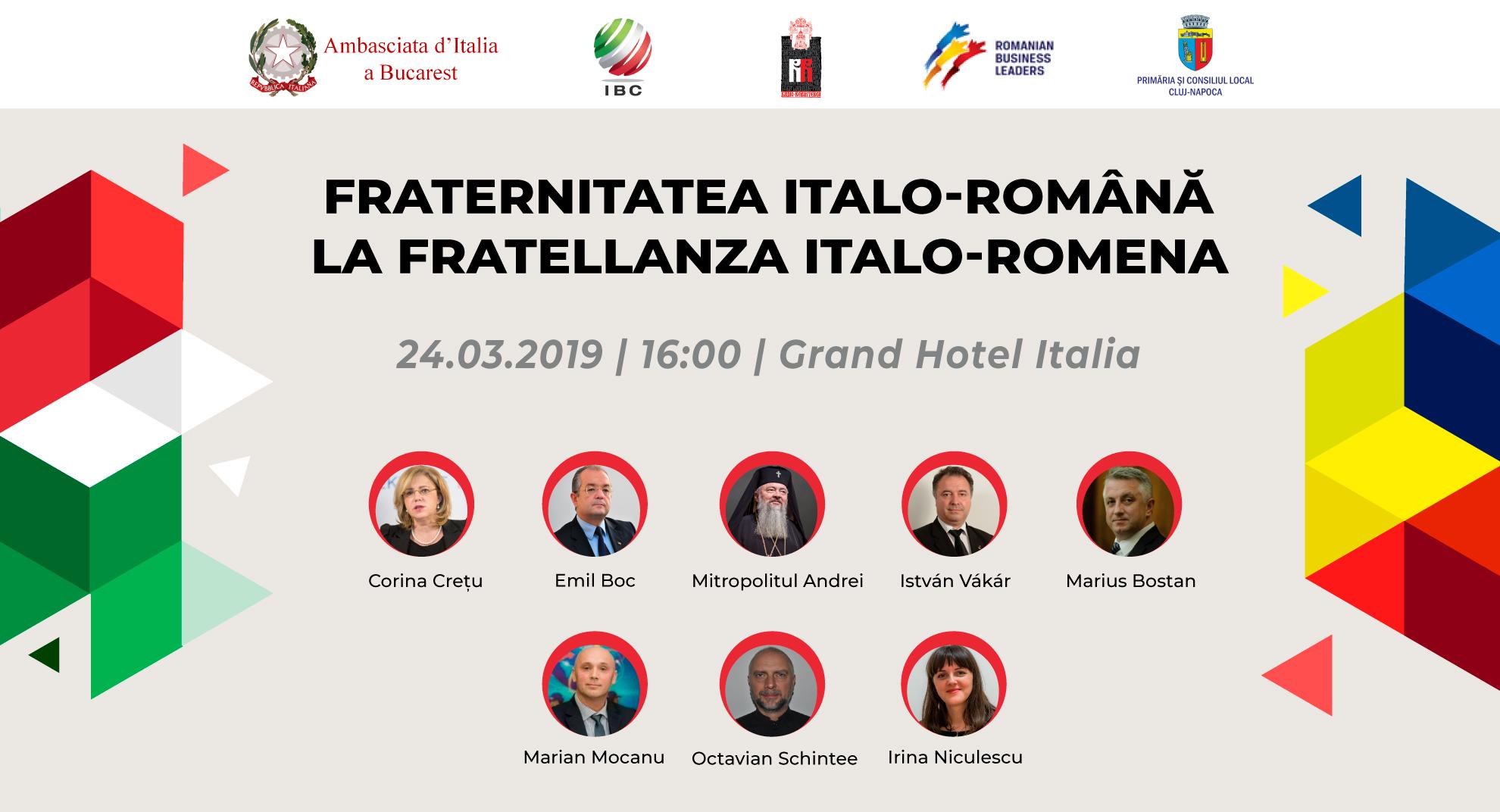 Evenimente europene la Cluj Fraternitatea româno-italiană