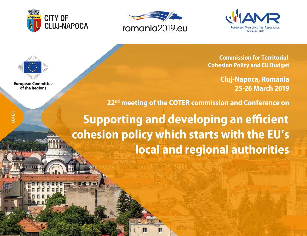 Evenimente europene la Cluj conferința COTER