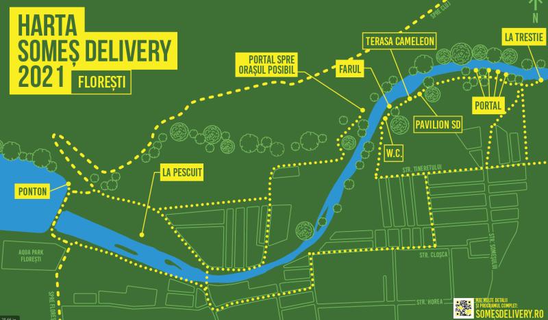 Harta Somes Delivery Floresti