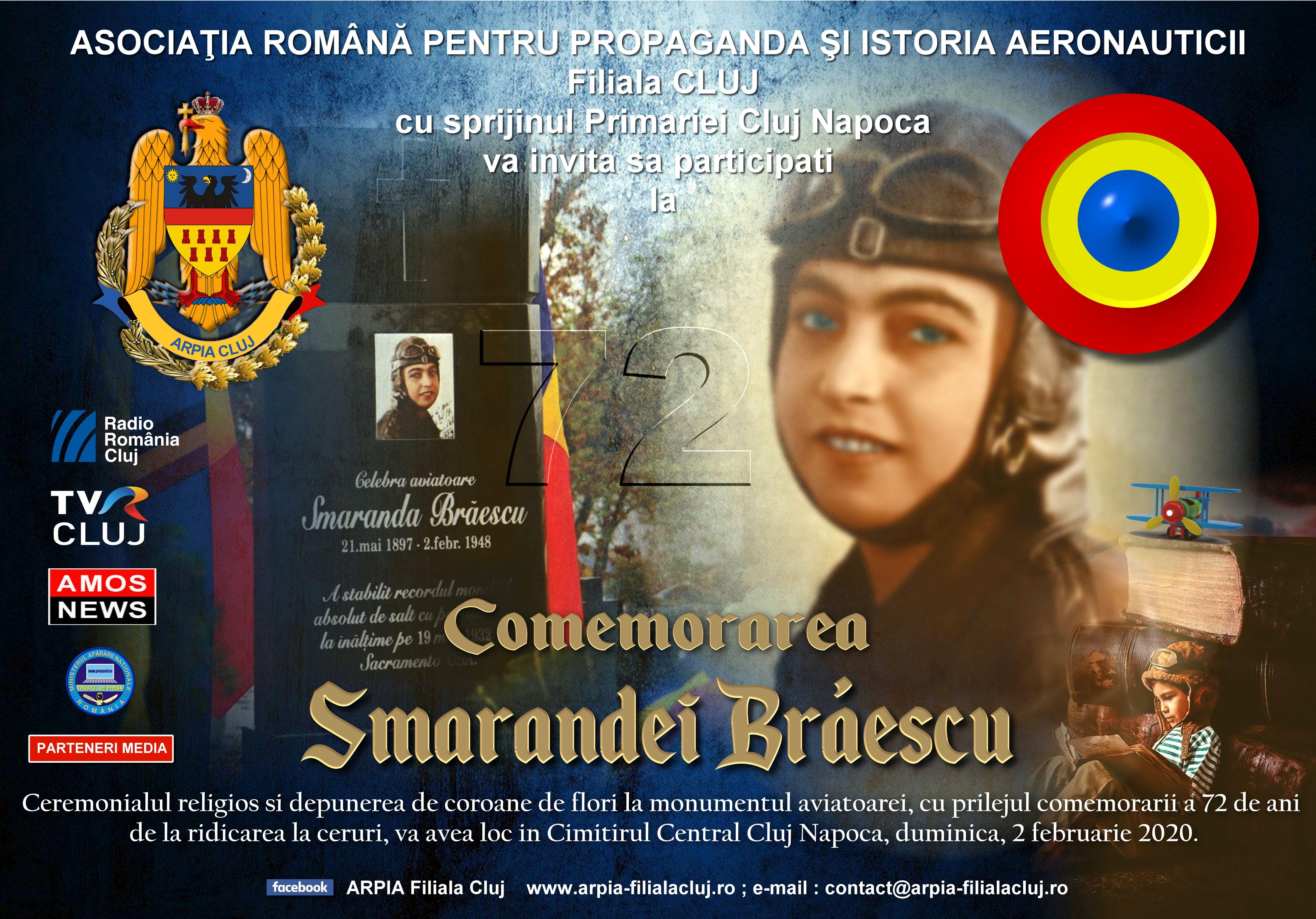 Invitatie comemorare Smaranda Braescu