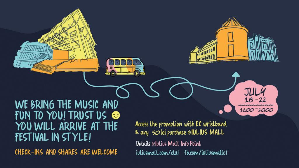 Călătorii VIP către Bonțida și kit-uri de festival, oferite de Iulius Mall Cluj participanților la Electric Castle