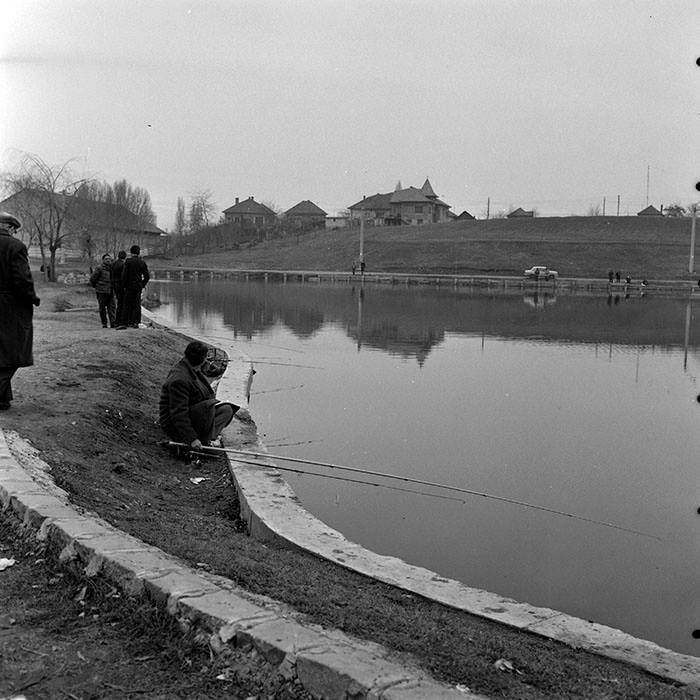 La pescuit pe lacul din Gheorgheni