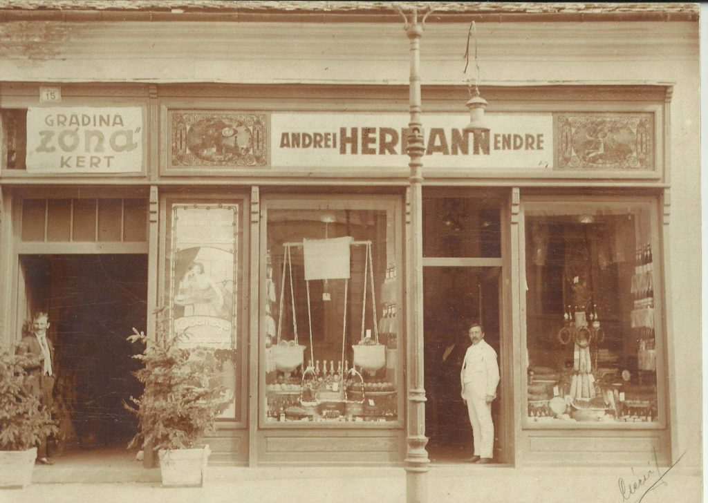 Magazinul Hermann Endre, care se afla pe actuala str.Napoca, anul 1919.