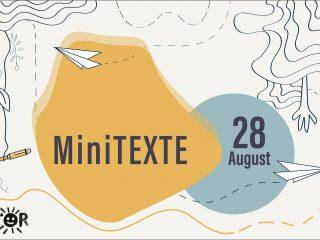 MiniTEXTE. Cuvinte de copii: textele copiilor transformate în piese de teatru