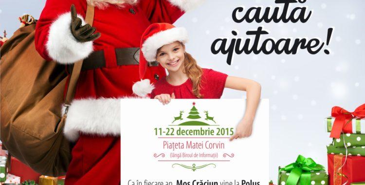 Moș Crăciun caută ajutoare la Polus