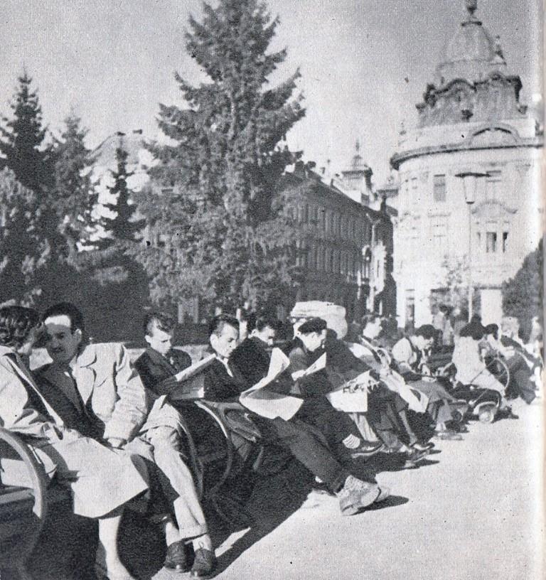 Piata Libertatii. Aspect obisnuit in timpul prinzului, 1961