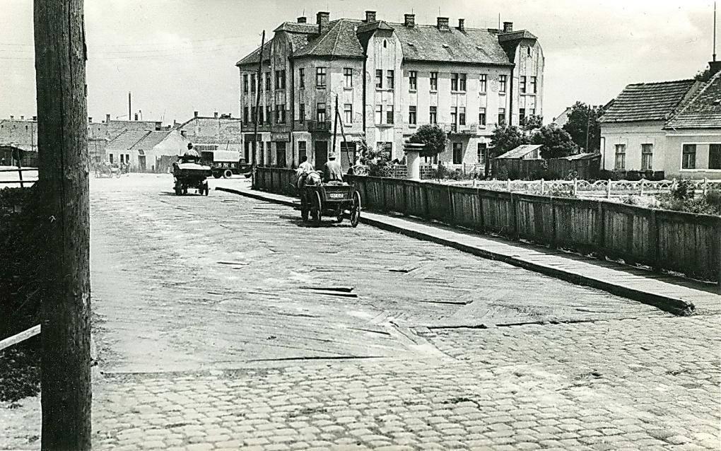 Podul de lemn peste Somes din Piata Abator, incep. sec. XX