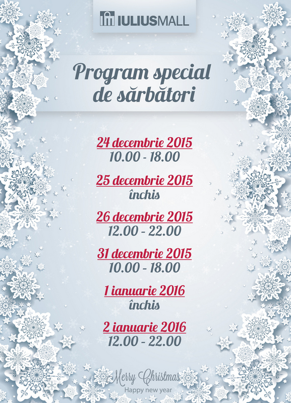 Program Iulius Mall Cluj