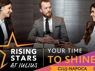 """""""Rising Stars at IULIUS"""" – Construiește-ți viitorul încă din timpul studiilor cu programul de internship plătit!"""