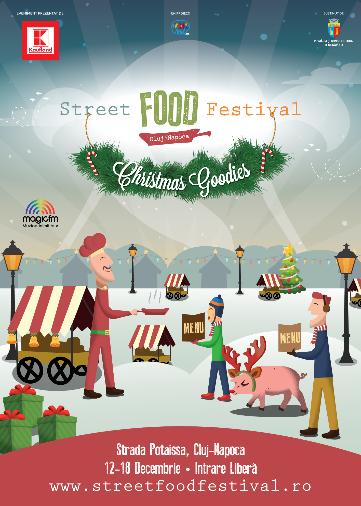 Street Food Festival Christmas Goodies | 12-18 decembrie 2016, Cluj
