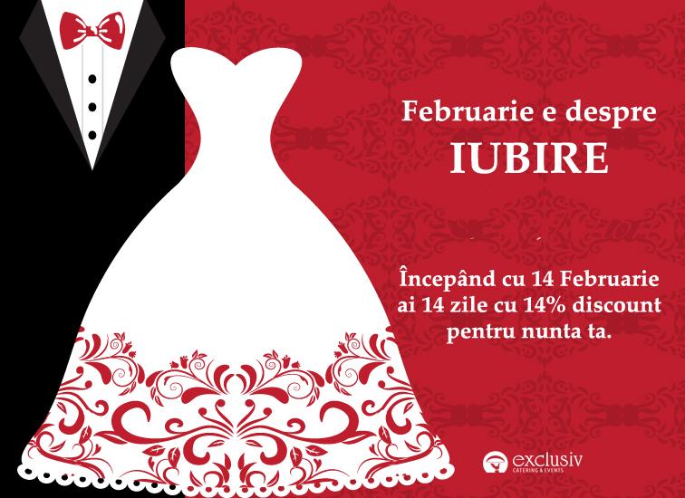 Februarie e despre IUBIRE la Exclusiv Catering & Events!