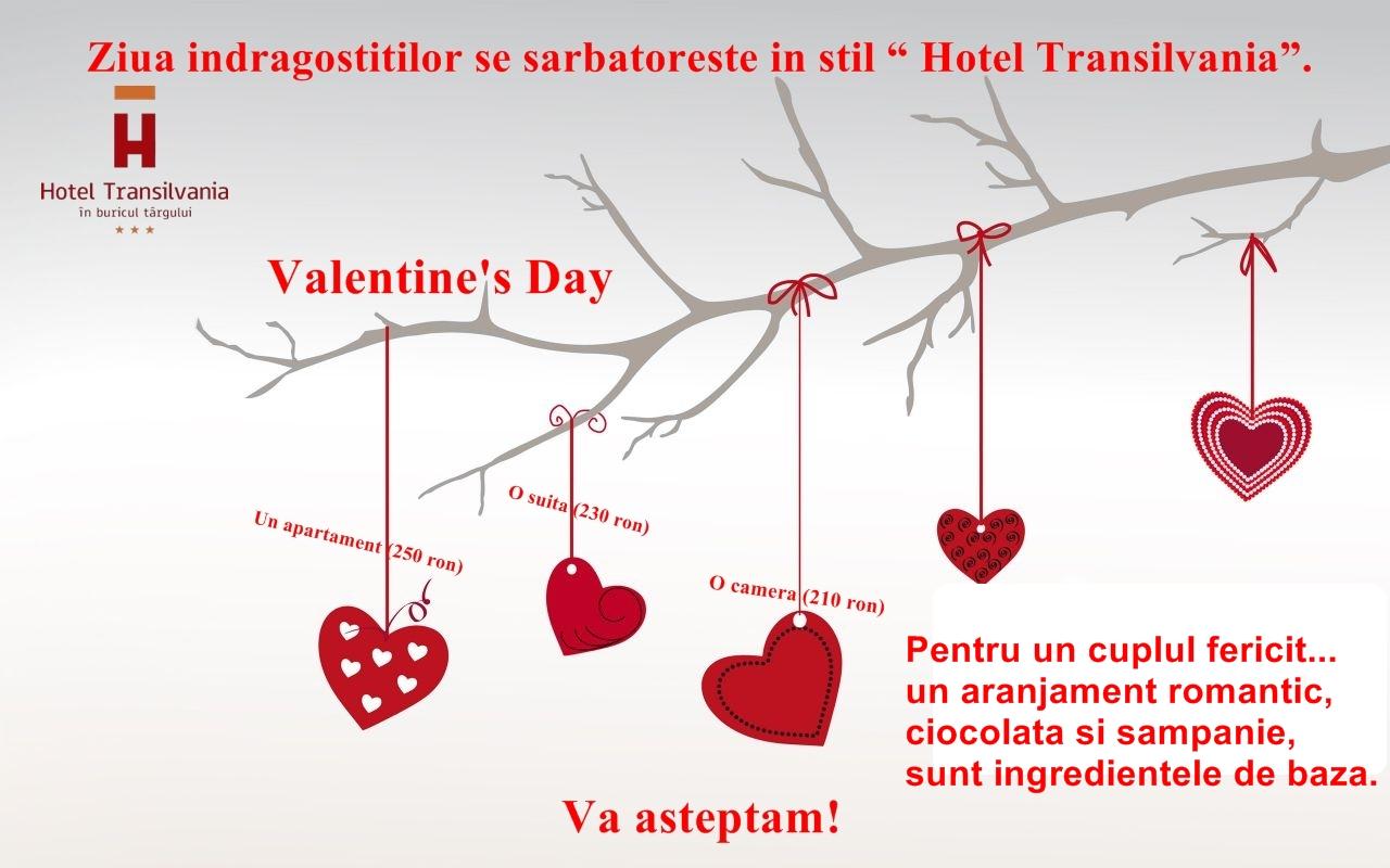 Ziua îndrăgostiţilor se sărbătoreşte la Hotel Transilvania