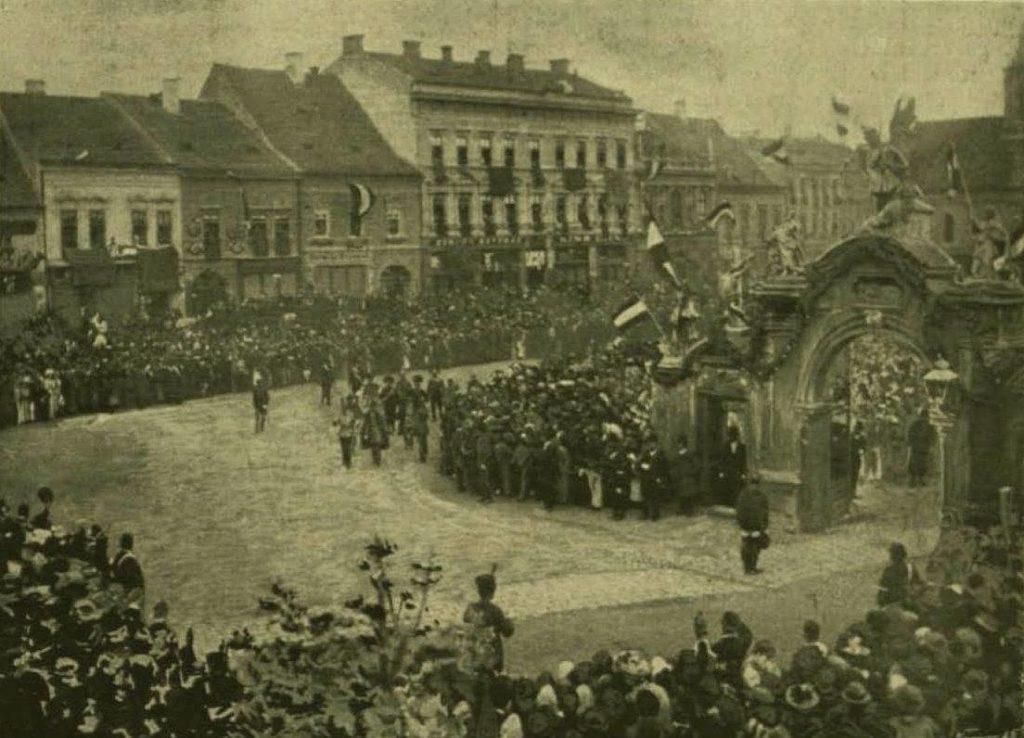 Vizita la Cluj a Regelui Franz Josef in 1895, in imagine.
