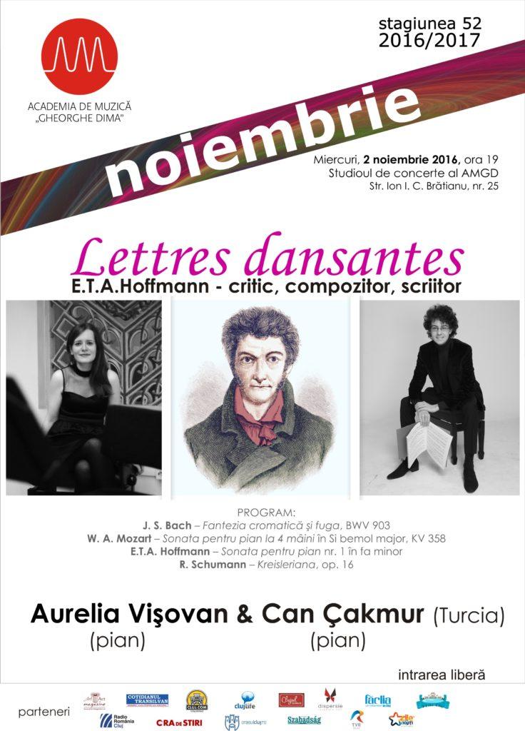 Recitalul susținut de tinerii pianiști Aurelia Vișovan și Can Çakmur
