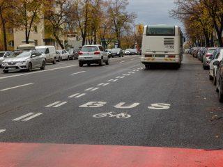 O nouă bandă pentru transportul în comun pe Calea Florești