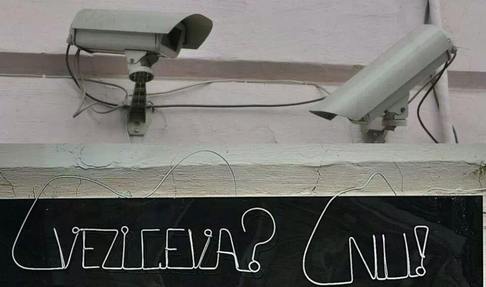 camera conversation art bending wire art cluj