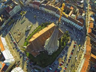cluj napoca vedera aeriana aerial view biserica sf mihail 01