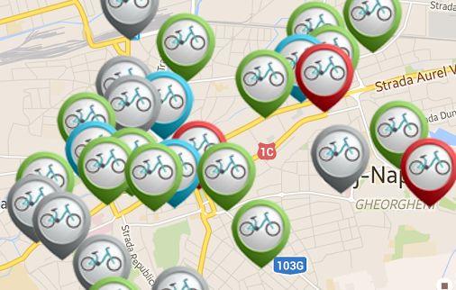 clujbike map aplicatie android pentru proiectul cluj bike