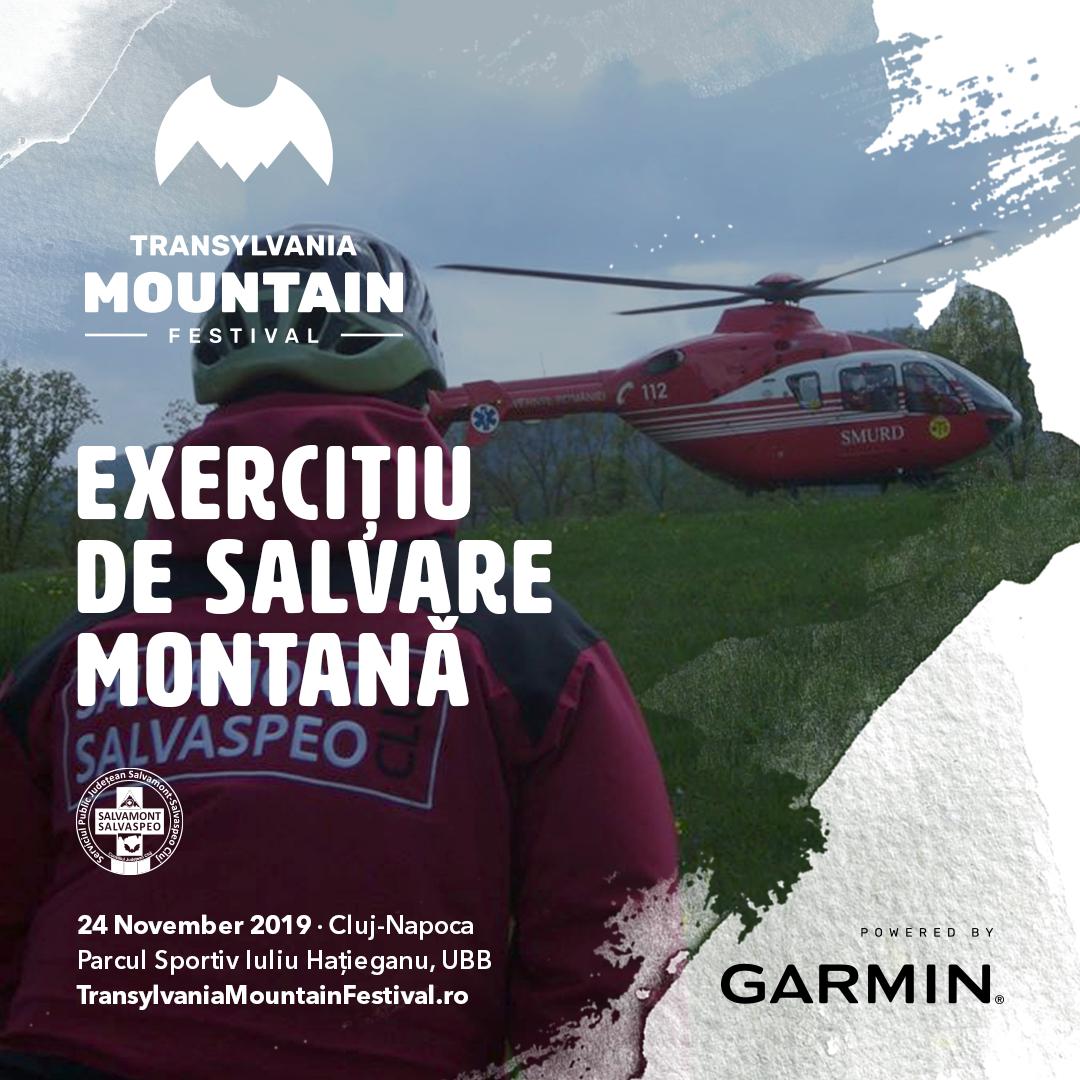 exercitiu de salvare montana Salvamont