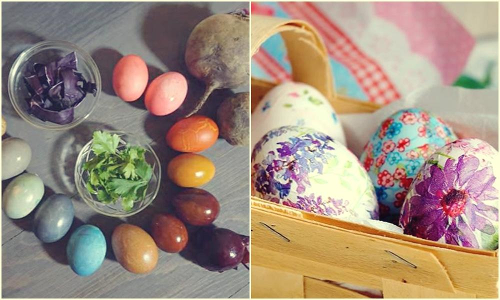 experimente de paste oua vopsite natural
