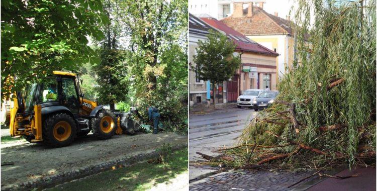 Furtună la Cluj