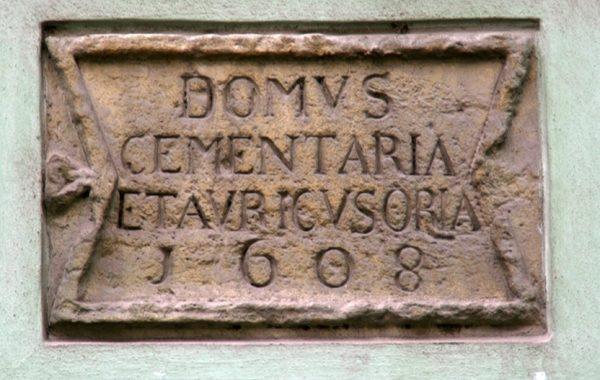 inscriptie Casa Monetariei