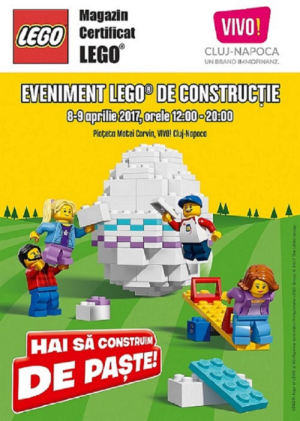 Cel mai frumos ou încondeiat şi un eveniment special LEGO® în weekend la VIVO! Cluj-Napoca
