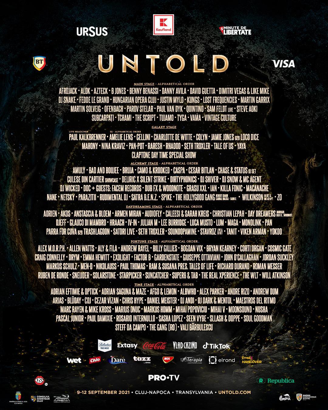 lineup-ul untold 2021 artisti