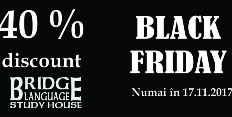 Bridge Language Study House oferă 40 % reducere de Black Friday