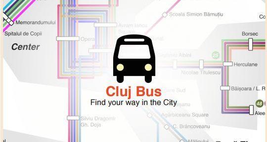 macheta cluj bus aplicatie statii transport public cluj
