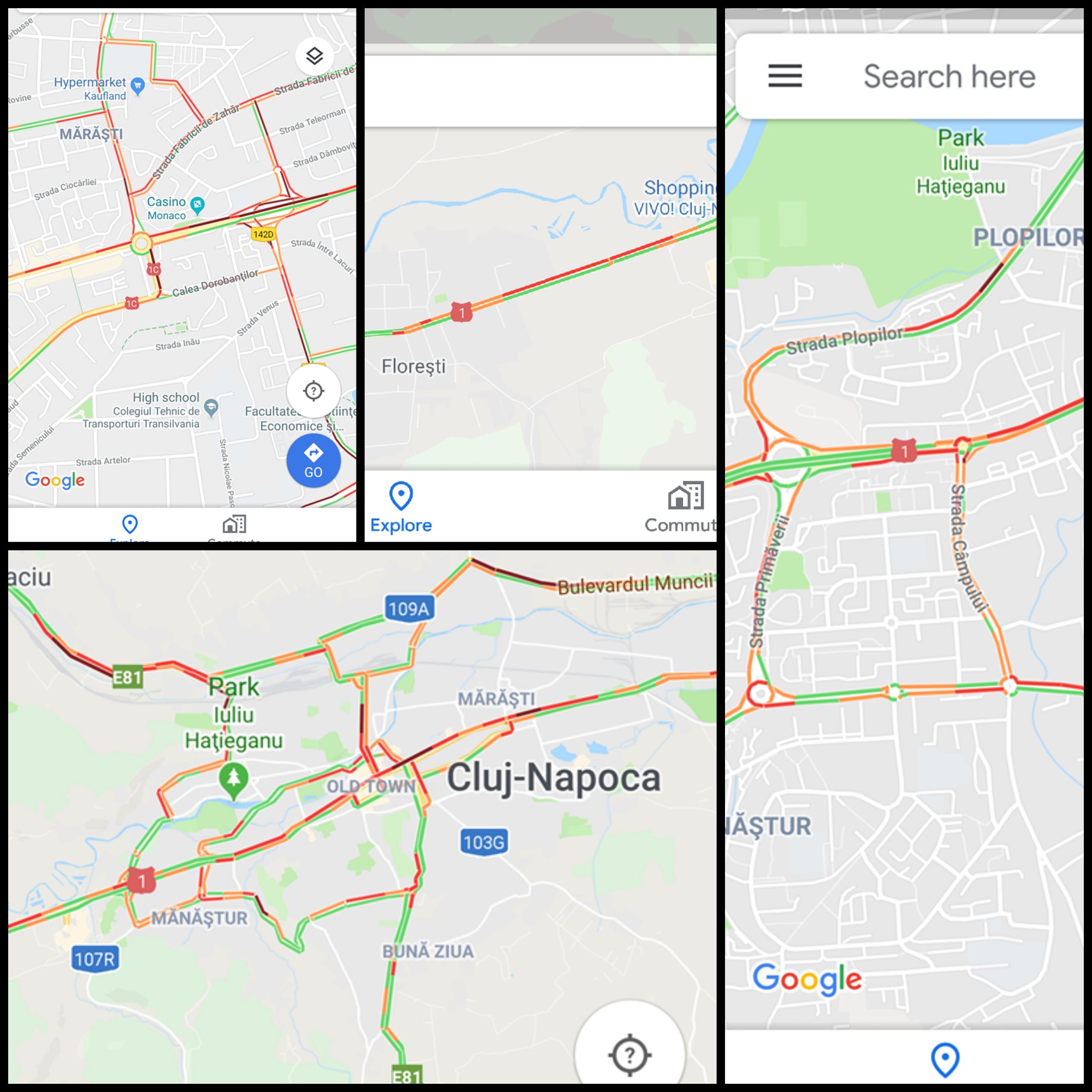 traficul din Cluj